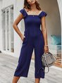Summer Solid Holiday Jumpsuit